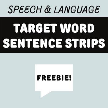 Target Word Sentence Strips