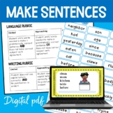 Target Words; Speaking and Writing Sentences