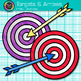 Target and Arrow Clip Art {Rainbow Bullseye Graphics for Learning Target Goals}