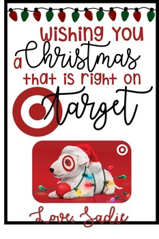 image about Printable Target Gift Card named Focus reward card - xmas card