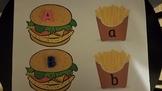 Target letter erasers alphabet beads matching lower case u