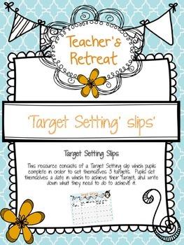 Target setting slips