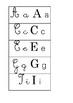 Tarjetas del abecedario multicaligráficas