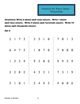 Targeted Math Interventions - Thousands Place Value
