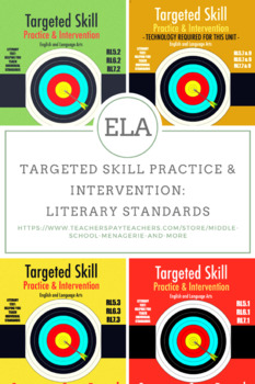Targeted Skill Practice and Intervention: Literary Standards for Grades 5, 6, 7
