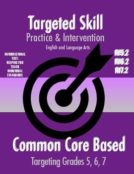 Targeted Skill Practice & Intervention: RI5.2, RI6.2, RI7.2 (Central Idea)