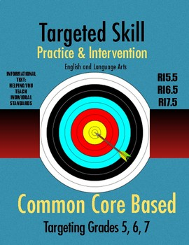 Targeted Skill Practice and Intervention: RI5.5, RI6.5, & RI7.5 (Text Structure)