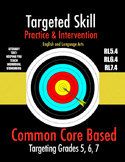 Targeted Skill Practice & Intervention: RL5.4, RL6.4, RL7.4 -Figurative Language