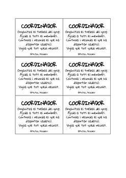 Targetes rols grups cooperatius: Coordinador