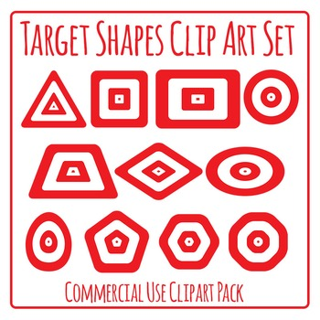 Targeting Shapes - Geometric Shape Targets Clip Art for Commercial Use