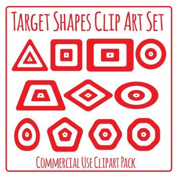 Targeting Shapes - Geometric Shape Targets Clip Art for Co