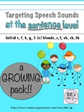 Targeting Speech Sounds at the Sentence Level