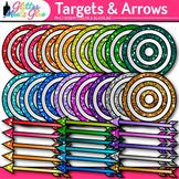 Target & Arrow Clip Art | Rainbow Bullseye Graphics for Learning Goals Use