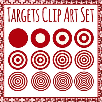 Targets Clip Art Set for Commercial Use