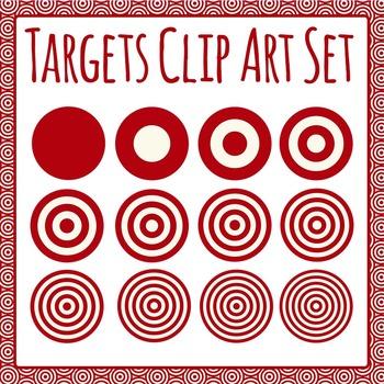 Targets Clip Art Set for Commercial Use