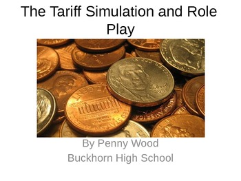 United States History Tariff of Abominations Simulation