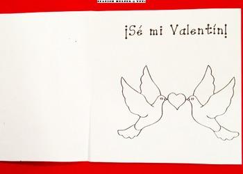 Tarjeta 2 San Valentín para la clase de Español