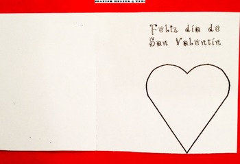 Tarjeta 3 San Valentín para la clase de Español