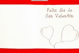 Tarjeta 4 San Valentín para la clase de Español