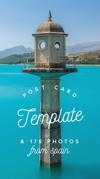 Spanish Writing Project: Post Card Template and 176 Photos from Spain