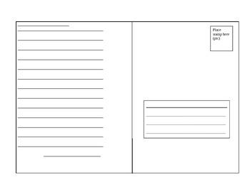 Tarjeta Postal Project -Postcard Project Preterit verbs