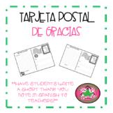 Tarjeta Postal de Gracias