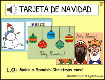 Tarjeta de Navidad (Spanish Christmas cards)- Y3 ->Y6 (2nd -> 5th Grade)