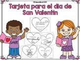 Tarjeta par el día de San Valentín