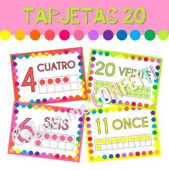 Tarjetas 1 al 20 - Colour me Confetti