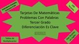 Tarjetas De Matematicas-Problemas Con Palabras--Tercer Grado