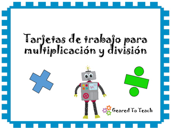 Tarjetas Repaso Solucion de Problemas Multiplicacion Division Matematicas