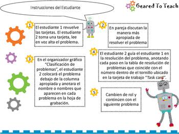 Tarjetas Repaso Solucion de Problemas Multiplicacion Division ...