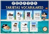 Tarjetas VOCABULARIO PIRATAS / Vocabulary cards PIRATES (Spanish)