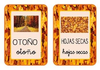 Tarjetas Vocabulario OTOÑO / Vocabulary Cards AUTUMN (SPANISH)