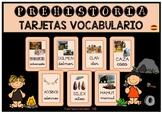 Tarjetas Vocabulario PREHISTORIA / Vocabulary Cards PREHISTORY (SPANISH)