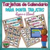 Tarjetas bilingues para calendario de porta-tarjetas {Bilingual Calendar Cards}