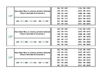 Tarjetas cálculo mental 10 a 15