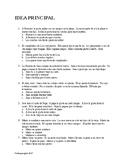Tarjetas con ejercicios para encontrar La Idea Principal