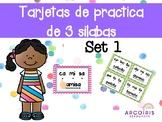 Tarjetas de 3 silabas- Set 1 (Spanish)
