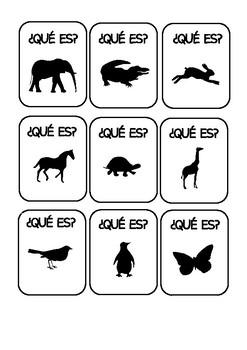 Tarjetas de Animales