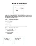 Tarjetas de ¿Cómo Estás? - Introduction Cards