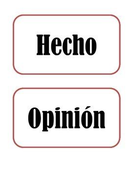 Tarjetas de Hechos y Opiniones