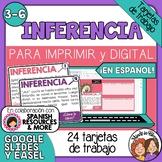 Tarjetas de trabajo: Inferencia (Inference Task Cards in Spanish)