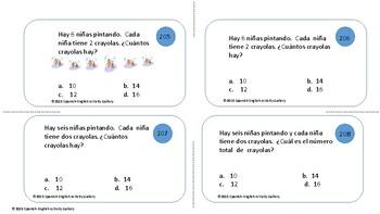 Tarjetas de Matematicas II - Problemas con Palabras - Tercer Grado