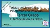 Tarjetas de Matematicas II - Problemas con Palabras - Terc