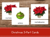 Tarjetas de Navidad/Christmas 3-part cards in Spanish (Mon