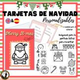 Tarjetas de Navidad / Christmas Cards personalizables (ENGLISH + SPANISH)