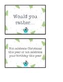 Tarjetas de Navidad. Would you rather
