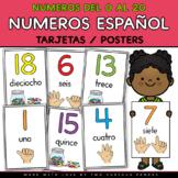 Tarjetas de Numeros al 20 (Spanish Number Posters)