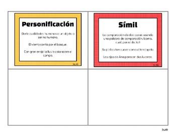 Tarjetas de Poesía y Lenguaje Figurado/Poetry and Figurative Language Task Cards